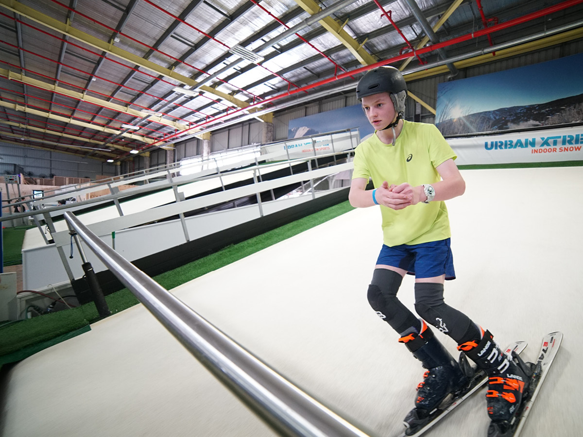 Discover the fun of our learn to ski program at Urban Xtreme these school holidays.