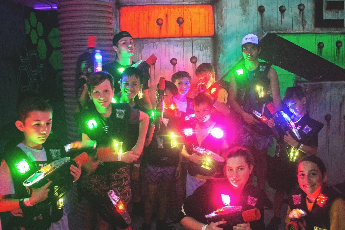 Kids can take on the ultimate school holiday challenge in our multi level laser tag arena at Urban Xtreme.