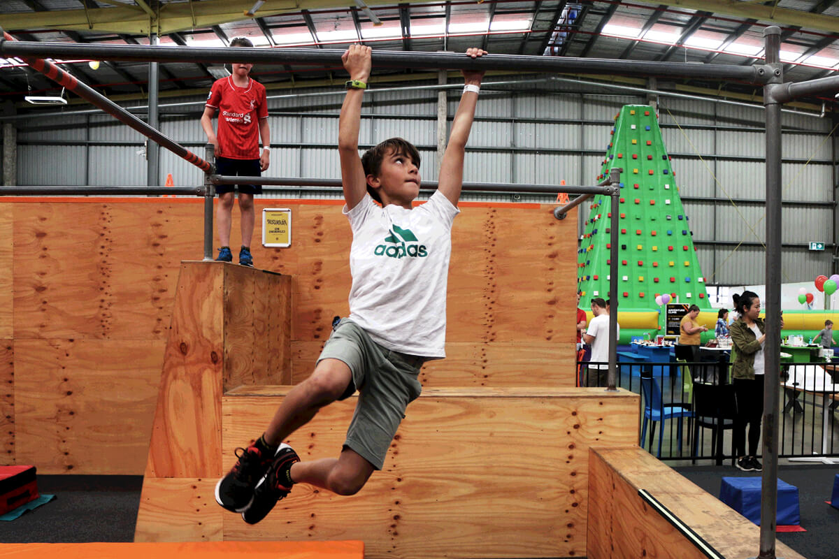 Your child will have loads of fun testing their skills on our purpose-built Parkour course at Urban Xtreme.