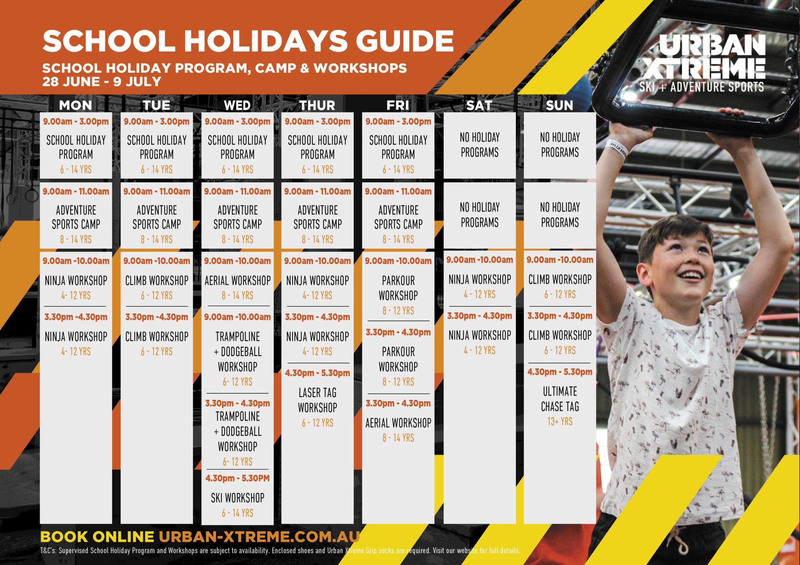 UX School Holiday Workshops