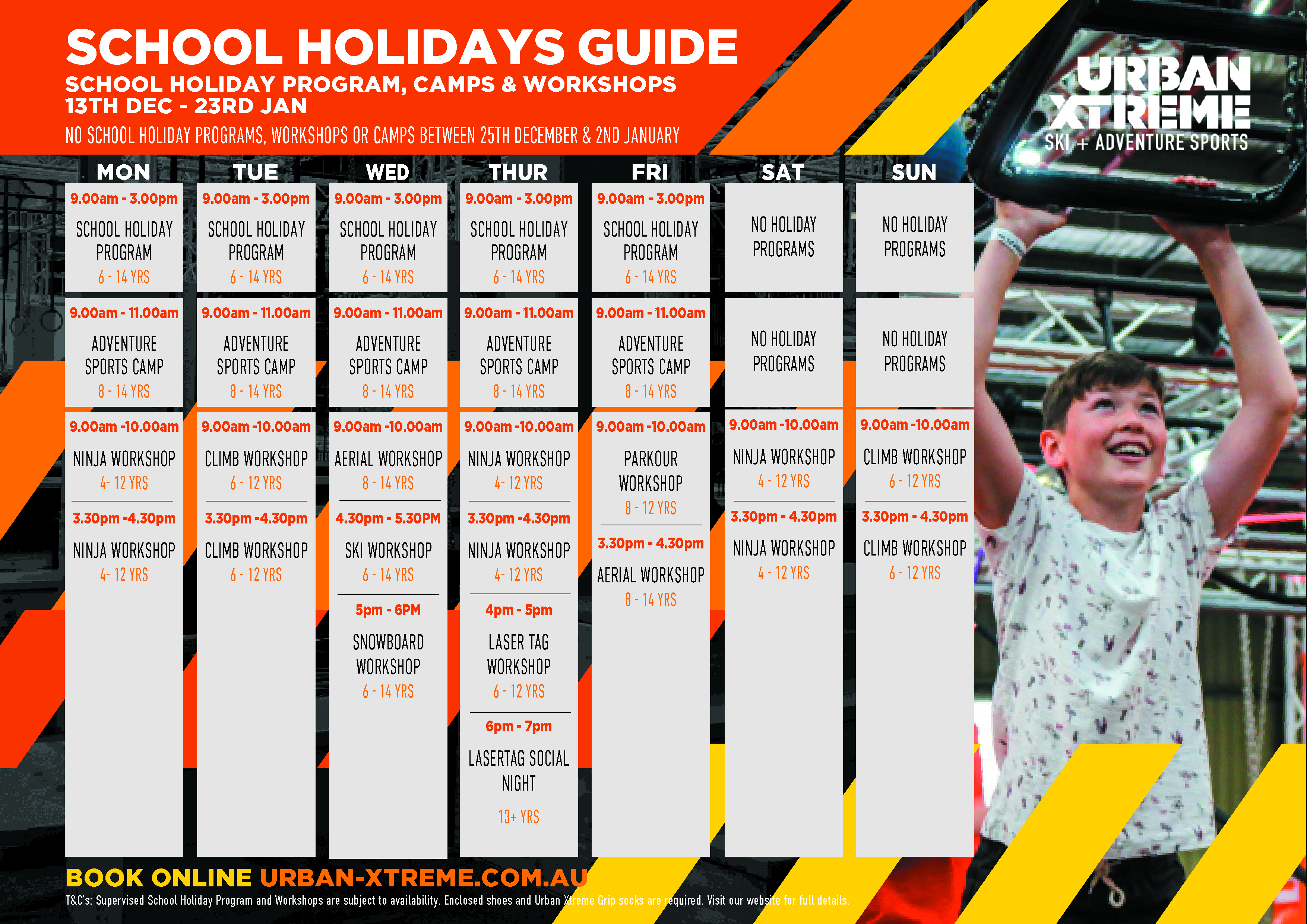 Browse the latest UX School Holiday Events Guide